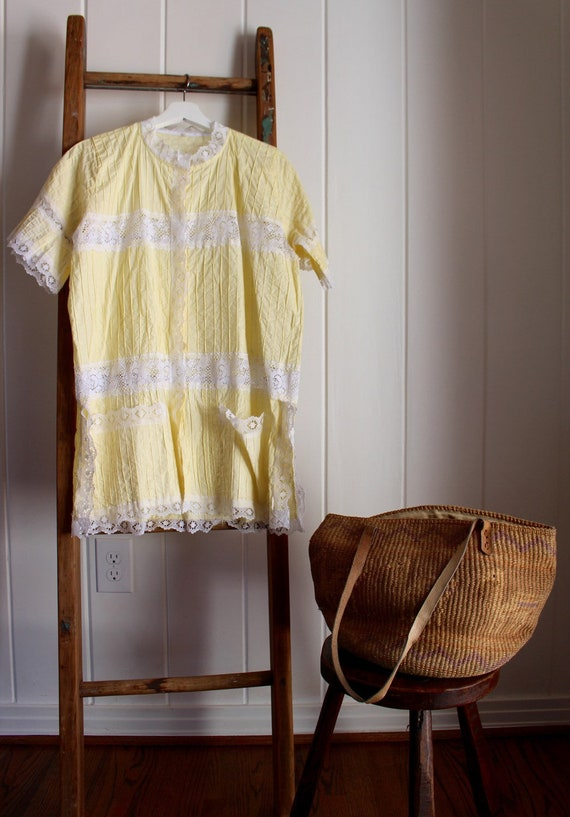 Buttery Yellow Mexican Tunic