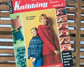 832aa4622d6f6 McCalls Knitting   Knitting Book 4   Step by Step Instructions for  Beginners   How To Knit Book   Knitting Patterns