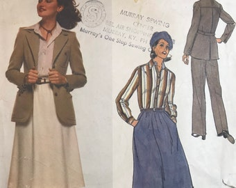 Skirt or Pants Suit Sewing Pattern Designed by Calvin Klein for the Vogue American Designer Series