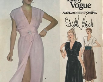 Dress or Tunic and Pants Sewing Pattern designed by Edith Head for the Vogue American Designer Series