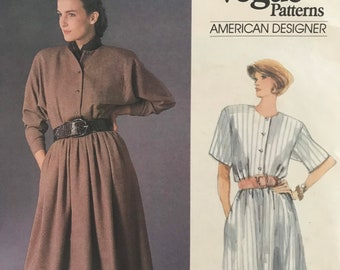 Long Sleeve or Short Dress Sewing Pattern Designed by Ralph Lauren for the American Designer Original Series from Vogue