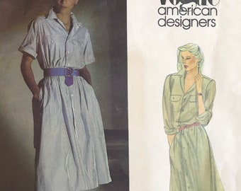 Dress Sewing Pattern designed by Ralph Lauren for Vogues American Designers Series