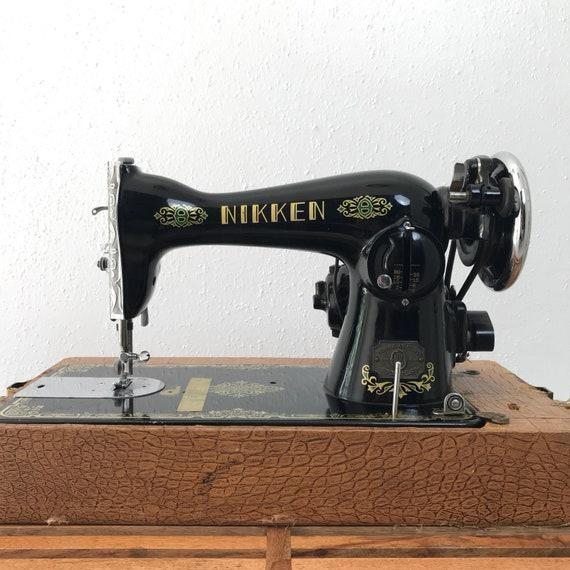 The Nikken Sewing Machine Antique Sewing Machine Antique Etsy Mesmerizing Antique Domestic Sewing Machine