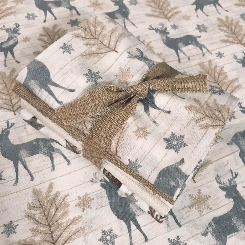 Winter Wonderland Fabric Bundle / Scandinavian Christmas Quilting Cotton  Fat Quarter or Half Yard Bundle