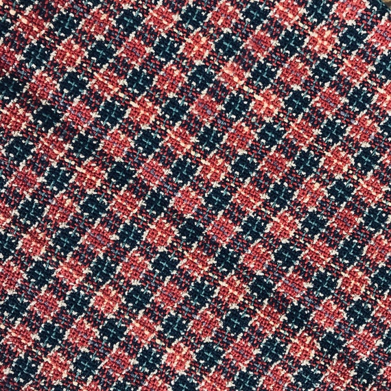 Woven Upholstery Fabric Vintage Cushion Fabric Vintage Chair Fabric Vintage Upholstery Fabric Plaid Upholstery Fabric
