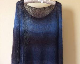 Warm and light handmade oversize sweater