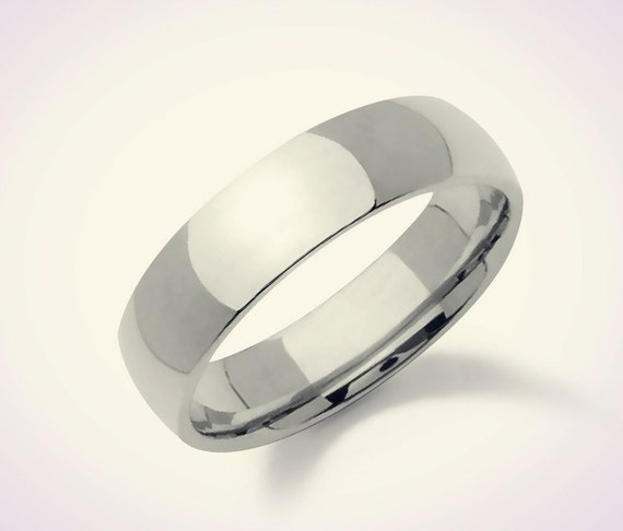 925 Sterling Silver 6mm Comfort Fit Plain Wedding Band Silver Etsy