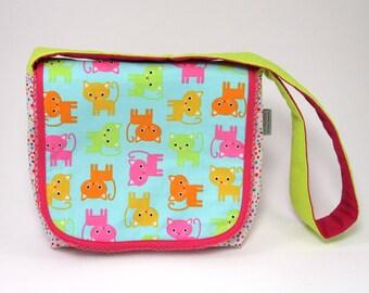 e3c5f9156130 Items similar to Zipper Pouch Little Makeup Bag Kittens Retro Style ...