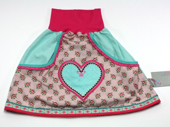 new style 00ed7 d4668 Rock size 122/128 with pockets heart rosa/mint