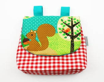 Handlebar bag squirrel green/red
