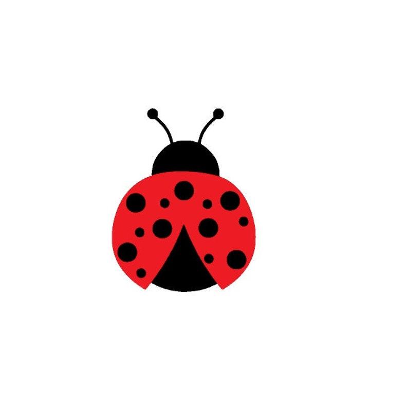 Ladybug Vinyl Decal Waterproof Laptop Tumbler Sticker Bumper Sticker