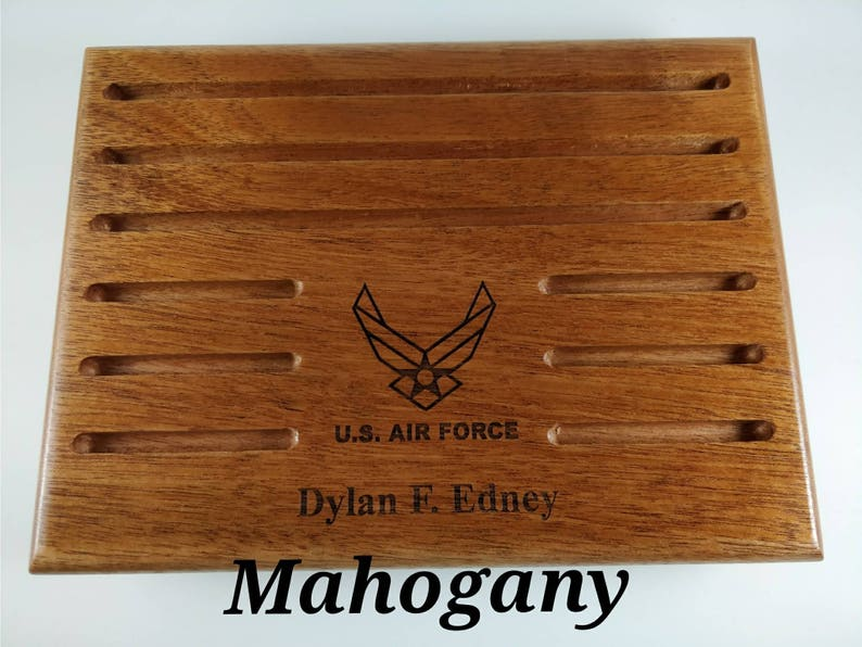 Custom Military Challenge Coin Holder - 20 Coins - 7 1/4