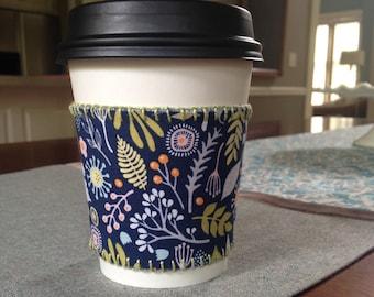 Reversible Cup Sleeve - handmade