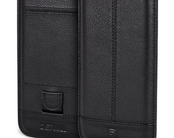 Apple iPhone 7 Leather Case, natural Nappa Leather Sleeve Pouch - DETUMA® Yahya Vintage Black