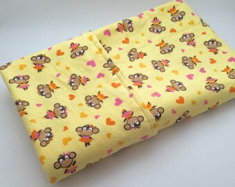 Yellow Monkey Receiving Blanket, Baby Receiving Blanket, Baby Blanket, Baby Swaddle Blanket