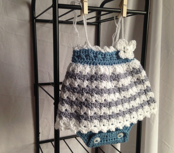 Crochet Pattern Baby Romper Crochet Baby Dress Easy Etsy