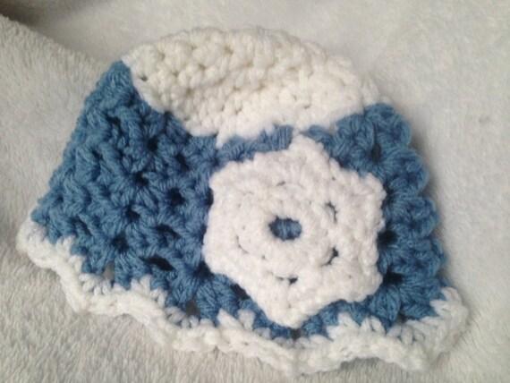 Crochet Pattern Snowflake Baby Hat Crochet Pattern Baby Hat Etsy