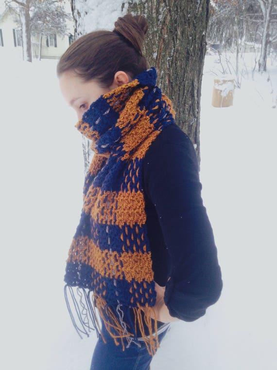 Crochet Pattern Crochet Plaid Scarf Harry Potter Inspired Etsy