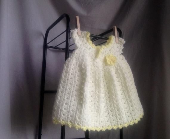 Crochet Pattern Baby Dress Crochet Pattern Easy Baby Dress Etsy