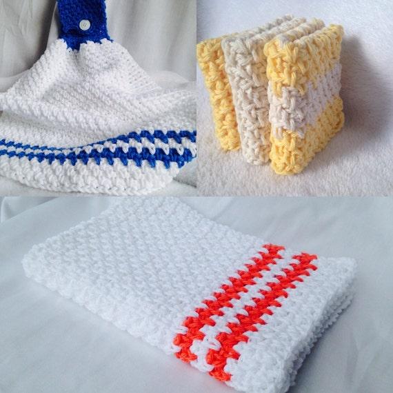 Crochet Pattern Kitchen Crochet Pattern Set Beginner Etsy