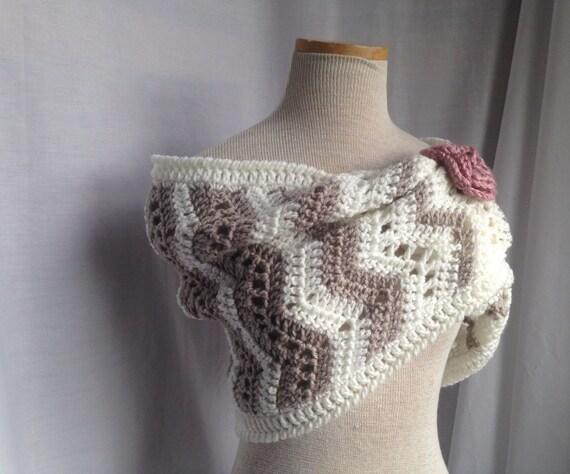 Crochet Pattern Crochet Chevron Cowl Pattern Crochet Fall Etsy