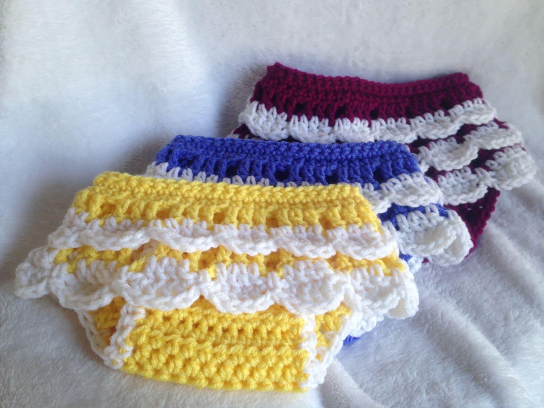 Crochet Pattern Ruffled Diaper Cover Crochet Baby Skirt Etsy