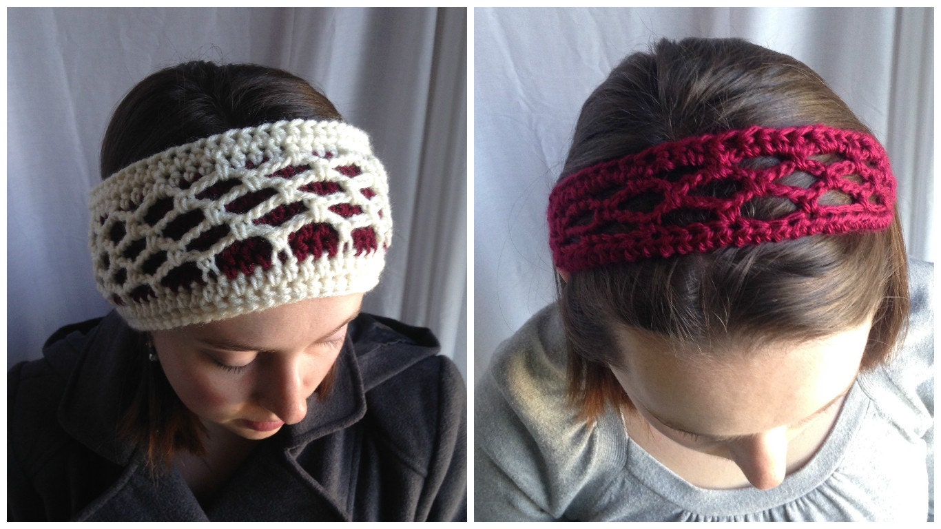 Crochet Pattern Headband Set Crochet Summer Headband Etsy