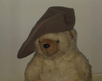 Kangol Vintage British  WOOL BERET Hat | Artist's Beanie | Unisex made in England | taupe/latte, new