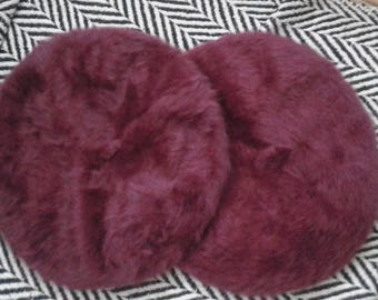 Burgundy classic Beret Hat Kangol Natural ANGORA WOOL soft warm  new in vintage style