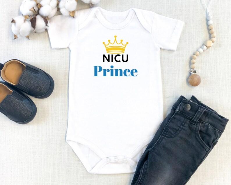 NICU Prince preemie baby boy Onesie\u00ae