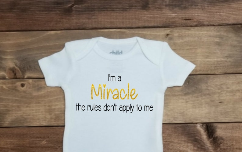 9938e3d6a7a I m A Miracle Micro Preemie Clothes Miracle Bodysuit