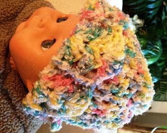 Handmade crochet newborn unisex hat, Soft infant unisex hat , Crochet baby hat, Photo prop hat, Baby shower, Baby gift, Rainbow colors.