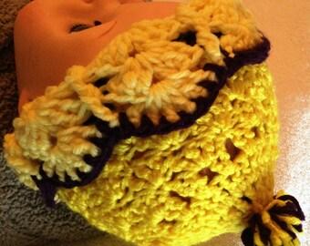 Handmade crochet newborn unisex hat, Warm infant hat,  Unisex baby hat, Crochet unisex baby hat, Photo prop, Baby shower, Baby gift, yellow
