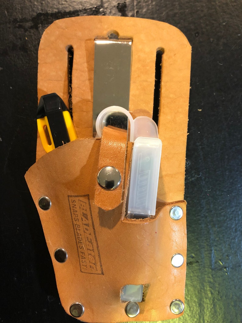 Bladeater Leather Knife Holster  Keeps track of knife and image 1