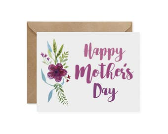Mother's Day Card / Floral - EcoFriendly Card, Gives Back, Wildlife Conservation, Recycled, Ethical, Renewable Energy, Flowers