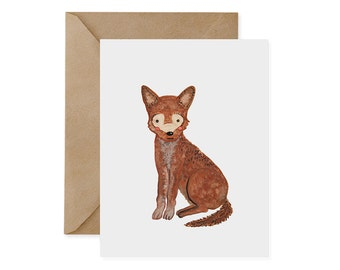 Red Wolf Card / Original - EcoFriendly Card, Gives Back, Wildlife Conservation, Recycled, Ethical, Renewable Energy