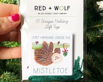 Holiday Gift Tags - Animal Pun, Gives Back, present labels (free domestic shipping)