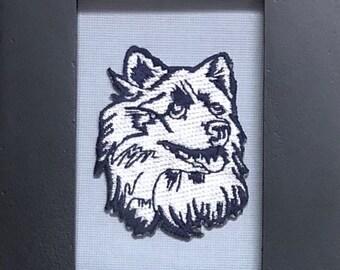 Washington Huskies Framed Vintage Embroidered Patch