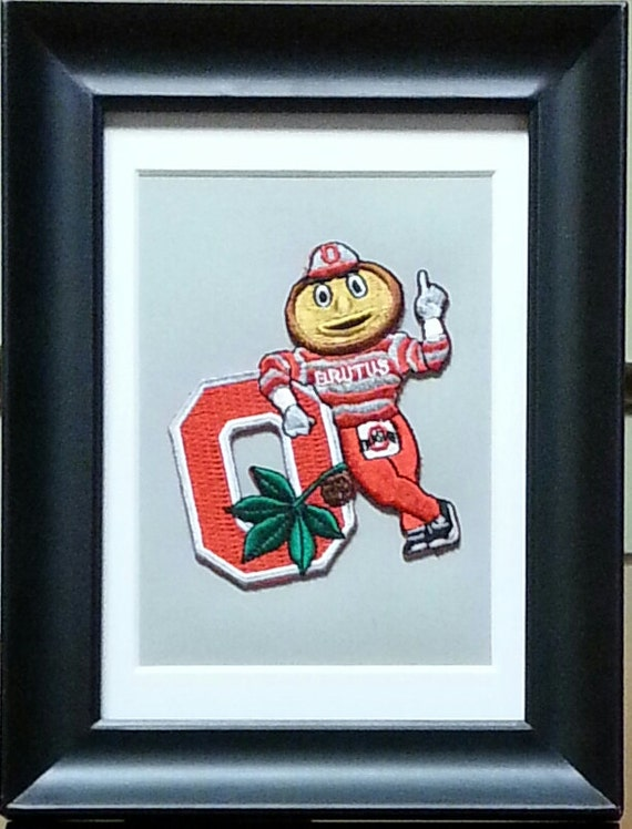 Ohio State Buckeyes Framed Vintage Embroidered Patch