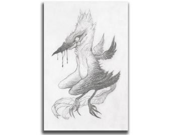 Ravenous 5.5 x 8.5 Art Print