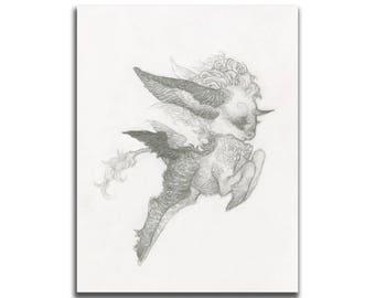 Leap 5.5 x 8.5 / 8.5 x 11 Art Print