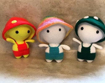 Mushroom kid doll crochet amigurumi