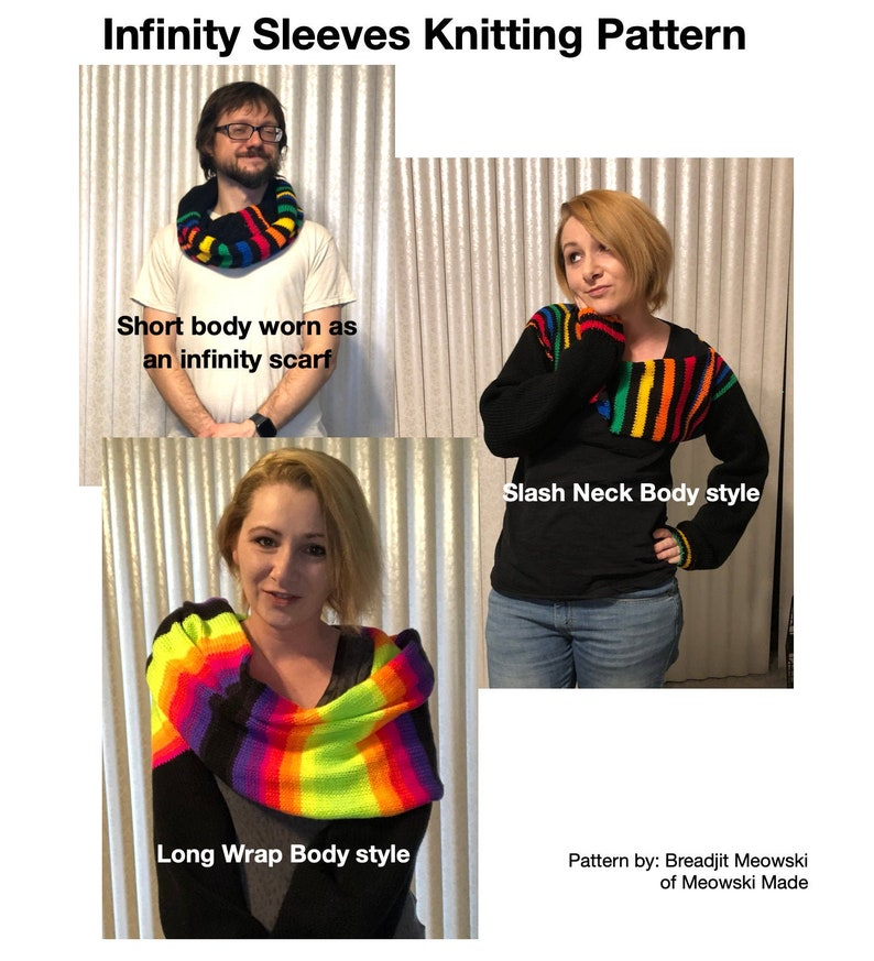Infinity Sleeves Knitting Pattern image 0