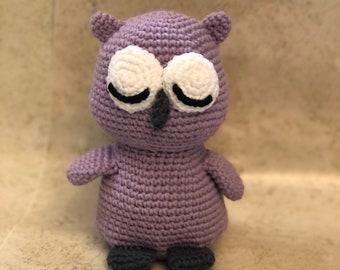 Owl crochet amigurumi doll