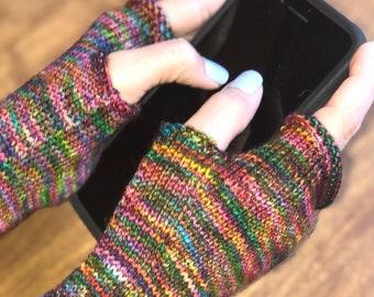 Fingerless gloves | Wrist warmers | knit half mittens