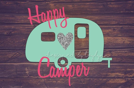 Happy Camper Decal Car Yeti RTIC