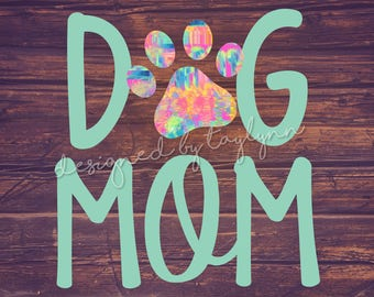 Dog Mom decal, Car Decal, Decals, Yeti Decal, RTIC Decal, Monogram Decals, Dog Decals, Animal Decals, Monograms, Paw Print Decal, Sticker