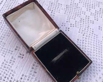 0f51f6611 Antique Ring Box Vintage Jewellery Jewelry Case Wedding Engagement Ring  Brown Unnamed