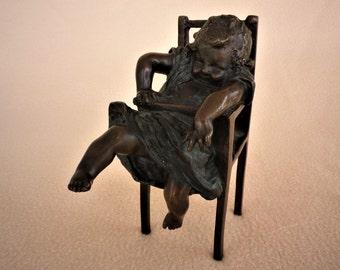 Hoge Stoel Kind.Vintage Kinderstoel Etsy