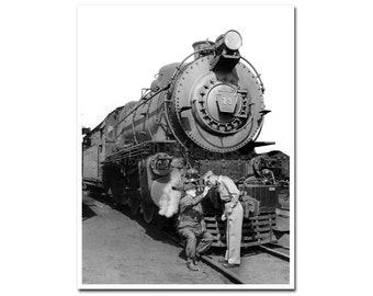 Pennsylvania Railroad Steam Locomotive 1949 PRR Train Engine